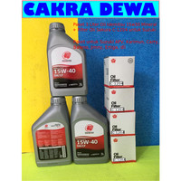 Paket filter Oli Suzuki APV Ertiga Karimun 3 L Idemitsu 15W40 Mineral