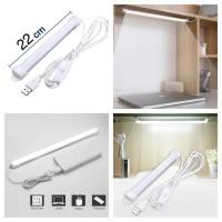 Lampu Neon USB Strip LED 22 Ruang Belajar Kerja Tidur Dapur Meja Rumah
