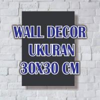 wall decor dekorasi 30x30 cm bingkai poster kayu lukisan vintage rumah