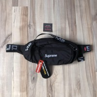 SS18 Supreme Waist Bag Black Best Perfect Replica 1:1