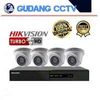PAKET CCTV HIKVISION 2MP 4 CHANNEL NO HDD