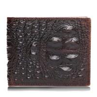 Aksesoris Fashion Pria Dompet Vintage Bahan Kulit Asli dengan Pattern