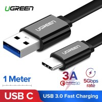 Ugreen Kabel Charger USB 3.0 Tipe C untuk Samsung Galaxy Note 8