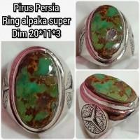 cincin batu akik permata pirus persia b1