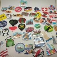 Sticker Koper Rimowa / Travel Label Famous Country / Stiker Negara