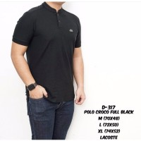 baju kaos kerah hitam mix abu / kaos polo hitam abu / polo shirt pria