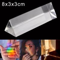 Efek foto Kaca Prisma Segitiga Untuk effect Cahaya Lensa Photography