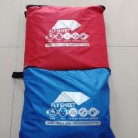 flysheet tenda 3 x 6 m - Hitam