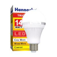 Hannochs Tricolour 14 watt LED 3 Warna Bola Bohlam Lampu Tiga Tricolor