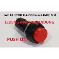 Push ON Switch Bulat 2 Pin Saklar Klakson Tombil Lampu Dim Motor