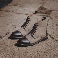 Sepatu Boots Pria Kulit Formal Casual Cowok ORI - TRAGEN ZAYED BROWN