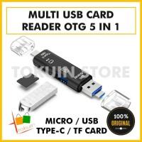 Multi Card Reader Micro USB Type C OTG Adapter SD TF USB HUB 3.0 5in1