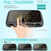 H18+ Backlight Full Touchpad Mini Wireless Keyboard 2.4GHz Air Mouse