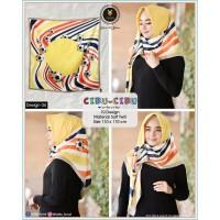 Hijab Jilbab Segi Empat Kartun Motif Cibu - Cibu by Yeffa Scarf