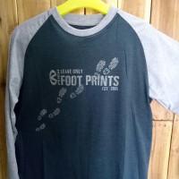 Kaos Tshirt panjang Rigi Foot Prints 029358
