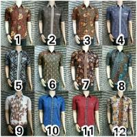 kemeja batik hem batik baju batik pria grosir batik murah - kode A80