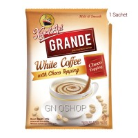 Kopi Kapal Api Grande Per Sachet White Coffee With Choco Topping