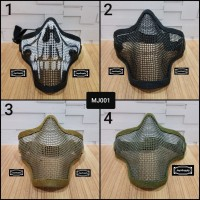 Half Mask Wiremesh v.1 PDW Safety Masker Jaring Tactical Face Airsoft