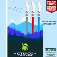 Kabel Data Micro USB Fast Charge 2.4A Vivan CTM100 ORIGINAL
