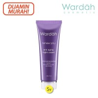 Wardah Renew You Anti Aging Night Cream, 17ml - Krim Wajah