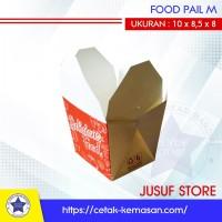 50Pcs KEMASAN RICE BOX/FOOD PAIL/BOX FOODPAIL/ FOOD PAIL