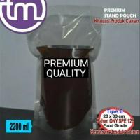 Standing Stand Pouch Plastik Kemasan 2200 ml Cair Cairan Minyak Minuma