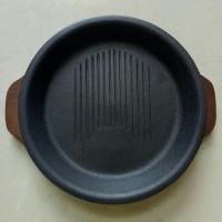 Hot Plate Bulat seperti Pepper Lunch Hotplate (Ada garis2nya)