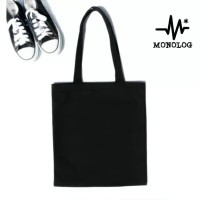 MONOLOG 30x40 Semi Canvas Tote bag Shopping Tas Kanvas Wanita Pria