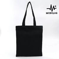 MONOLOG 35x45 Drill Tote bag Shopping Tas Kanvas Wanita Pria Polos