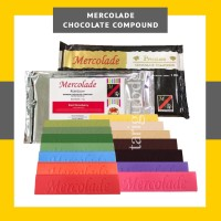 MERCOLADE COKLAT BATANG 1KG - BLOK WARNA RASA - CHOCOLATE COMPOUND