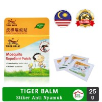 Tiger Balm Mosquito Anti Nyamuk Repellent Patch Isi 10 Patches