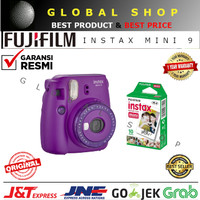 FUJIFILM INSTAX MINI 9 CLEAR PURPLE + REFILL INSTAX 10 PCS