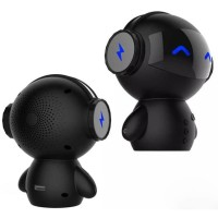 2 in 1 Speaker Bluetooth Portable + Power Bank Model Robot - M10 Black
