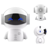 2 in 1 Speaker Bluetooth Portable + Power Bank Model Robot - M10 White