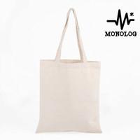 MONOLOG 35x45 Blacu Canvas Tote bag Shopping Tas Kanvas Wanita Pria