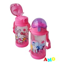 BOTOL MINUM ANAK HELLO KITTY LITTLE PONY BPA FREE