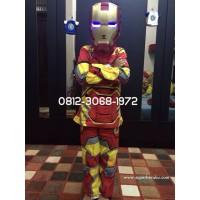 Topeng Nyala Baju Anak Superhero Iron Man Ironman Hadiah Ulang Tahun