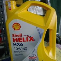 Oli Shell Helix HX6 10w 40 4L oli mobil bensin diesel JAMIN ORI ASLI