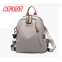 tas ransel wanita Backpack punggung import Sekolah Kuliah Kerja 112 - Abu-abu