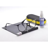 kacamata minus Frame Kacamata Antiradiasi 59073 c1 FASHION pria Wanita - Hitam glossy