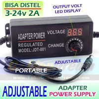 Adaptor Adjustable 3-24v DC 2A Power Supply Adapter Universal Voltage