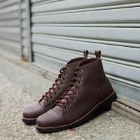 Sepatu Boots Pria Kulit Formal Kerja Cowok Casual ORI - TRAGEN FLEMING