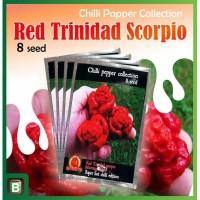 Benih Biji Tanaman Cabai Red Trinidad Scorpio Mouruga Blend Hias Unik