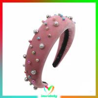 Bando - pearl velvet headband