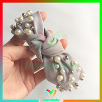 Bando - pearl white silver headband