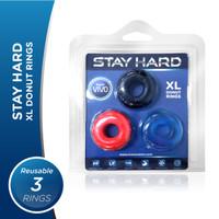 Stayhard VIVO - XL Donut Rings Original Silikon- Cincin Tahan Lama