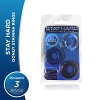 Stayhard VIVO - DONAT Stamina Rings Original Silikon-Cincin Tahan Lama