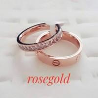 cincin titanium cartier diamond premium stainlesstel