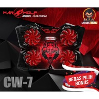 COOLING PAD GAMING LAPTOP/NOTEBOOK WARWOLF CW7 CRIMSON 4 FAN