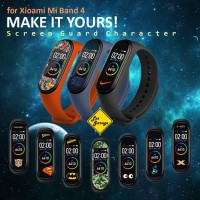 Anti Gores Mi Band 4 Screen Guard Protector Character - Soft TPU